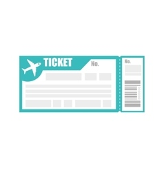 Ticket pass boarding flight vector