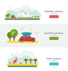 Travell Roads in Australia Road Trip on Car vector