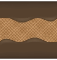 Wafer chocolate background vector image