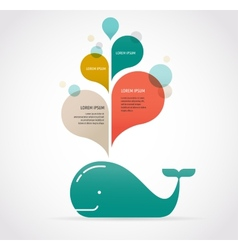 whale icon with speech bubbles vector image