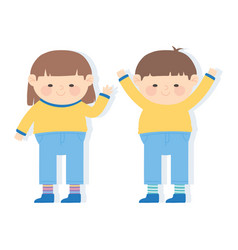 world down syndrome day cute little boy and girl vector image