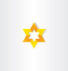 Yellow orange star icon sign vector