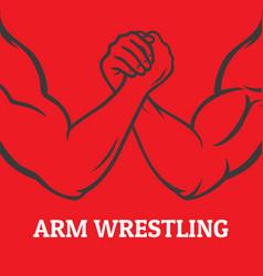 arm wrestling vector image vector image