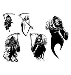 Death skeleton characters vector