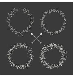 Hand drawn vintage arrows floral elements vector image vector image