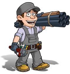 Handyman Plumber Gray vector image vector image