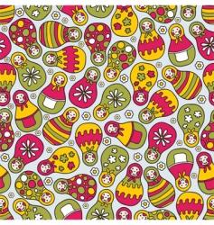 Matryoshka pattern vector image vector image