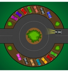 roundabout vector image vector image
