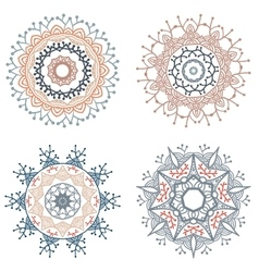 Set of round mandalas vector image