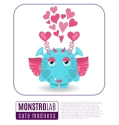 a love monster vector image vector image