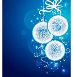 Christmas balls blueback vector image vector image