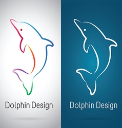 Dolphin Design vector image