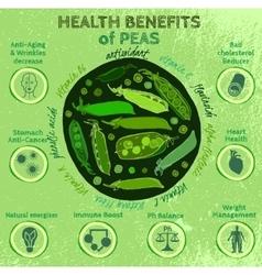 Peas Health Benefits 03 A vector image