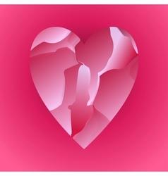 Red Broken Heart vector image vector image