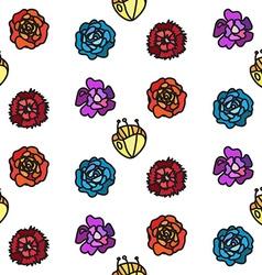 Vintage flowers seamless pattern vector image vector image