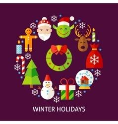 Winter Holidays Postcard vector image