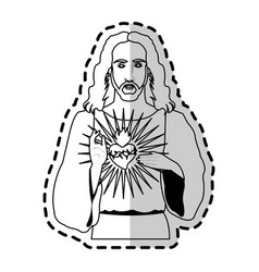 jesus christ christian icon image vector image