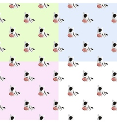 pattern with zebra vector image
