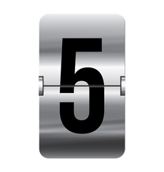 Alphabet silver flipboard letters 5 vector image