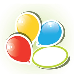 colorful paper balloons vector image vector image