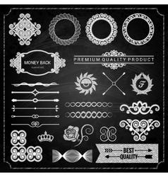 design elements chalk texture vector image