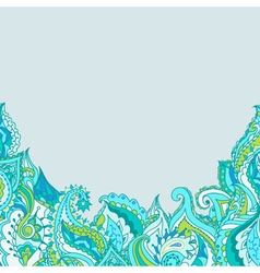frame with decorative paisley pattern vector image vector image