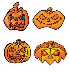 halloween head vector image vector image