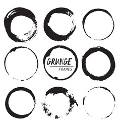 set of round grunge shapes vector image vector image