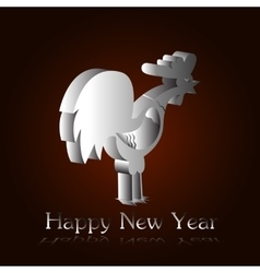 Silver rooster H vector image vector image
