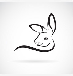 a rabbit head design on white background wild vector image