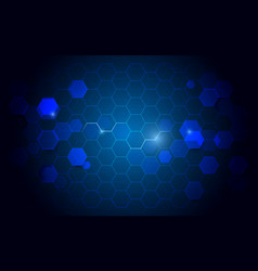 Abstract technology hexagons digital background vector