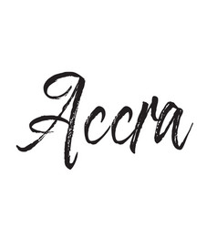 Accra text design calligraphy typography vector