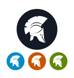 Antique helmet icon vector