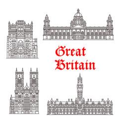 Architecture landmarks great britain vector