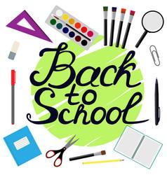 Back to school design set of school supplies with vector