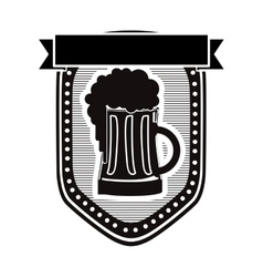 Beer glass emblem icon image vector