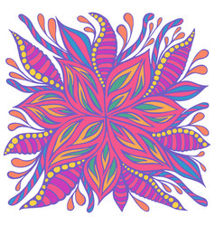 Bright colorful summer flower pastel neon color vector