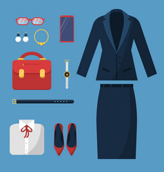 Businesswoman clothes fashion female office vector