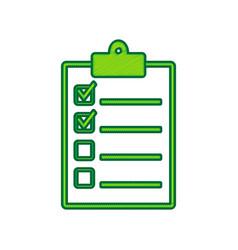 checklist sign lemon vector image