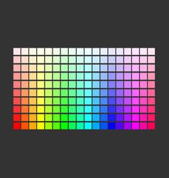 colorful palette set bright colors rainbow vector image