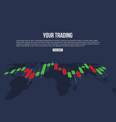 Creative of forex trading vector