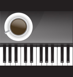 Cup of coffee and musical love coffee vector