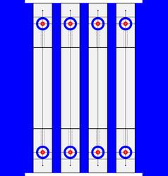 Curling sport equipment vector