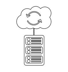 data base server cloud connection hosting info vector image