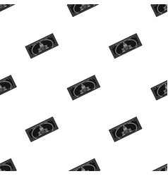 dollar bill icon in black style isolated on white vector image