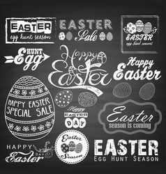 Easter typographical background vector
