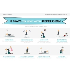 Eight ways to live with depression vector image