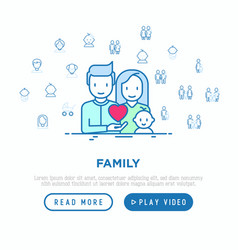family concept young couple with newborn vector image