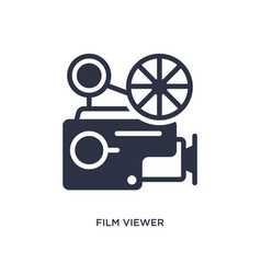 Film viewer icon on white background simple vector