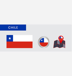 Flag chile in official colors embed vector